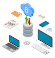 cloud computing technology isometric vector image vector image