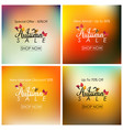 collection of autumn sale banner vector image vector image