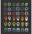 Color collection of Web icons vector image vector image