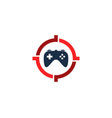 console target logo icon design vector image