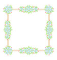 daisy flowers pastel square frame vector image vector image