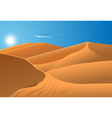 desert dunes vector image