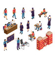 education isometric set vector image vector image