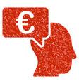 euro businessman idea icon grunge watermark vector image vector image