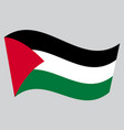 flag of palestine waving on gray background vector image