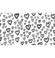 fun hearts seamless pattern vector image