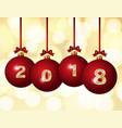 glass christmas balls 2018 vector image vector image
