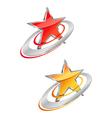 Glossy star symbols vector image