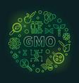 gmo circular green thin line vector image vector image