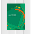 green brochure a5 or a4 format material vector image