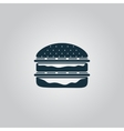 Hamburger web icon vector image vector image