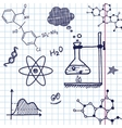 Hand draw chemistry elements vector image vector image