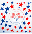 happy independence day with stars vector image vector image