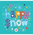 happy snow vector image vector image