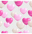 heart shaped balloons transparent background vector image