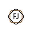 initial letter fj elegance logo design template vector image vector image