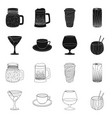 isolated object drink and bar logo collection vector image vector image