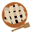 isolated pie and spatula vector image vector image