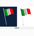 italy flag waving national flag italy isolated vector image