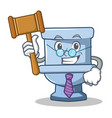 judge toilet character cartoon style vector image