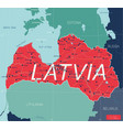 latvia country detailed editable map vector image vector image