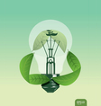 light save the plant concept vector image