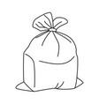 line art black and white full trash bag vector image