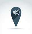 map pointer with a loudspeaker sign place location vector image