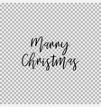 marry christmas transparent background vector image vector image