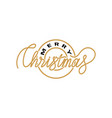 merry christmas print lettering isolated vector image vector image
