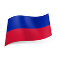 national flag of haiti blue and red horizontal vector image vector image