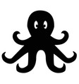 octopus icon on white background flat style vector image vector image
