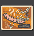 oktoberfest festival craft beer and grill sausage vector image vector image