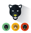 panther portrait with flat design vector image vector image