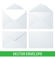 realistic envelope mockups vector image vector image