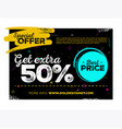sale poster design vector image vector image
