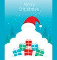 santa claus background with pile of gifts boxes vector image