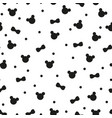 seamless pattern with cute hand drawn panda bear vector image vector image