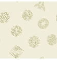 Seamless pattern with irish geometric ornament vector image vector image