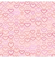 Seamless Valentines pattern with Outline Hearts vector image vector image