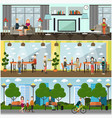 set of internet concept posters banners vector image vector image