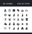 simple icons eid al-fitr vector image
