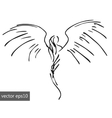 simple pinstriping angel vector image
