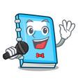 singing education mascot cartoon style vector image vector image