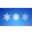 Snow Flakes Set vector image
