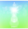 spring sunshine light template background vector image vector image