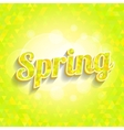 Spring triangles pattern with word and bokeh vector image vector image