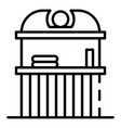 street beer kiosk icon outline style vector image vector image