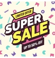 Super sale banner Retro edition vector image vector image