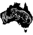 Tasmanian devil on map of Australia vector image vector image